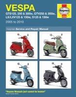 HAYNES 4898 SERVICE REPAIR MANUAL VESPA GTS125 250 300IE GTV250 300IE 05 - 10
